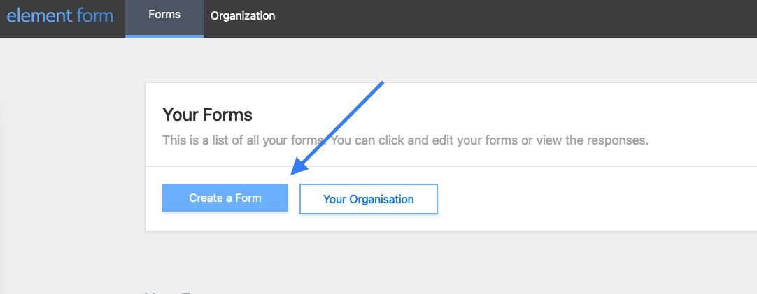 Create a form