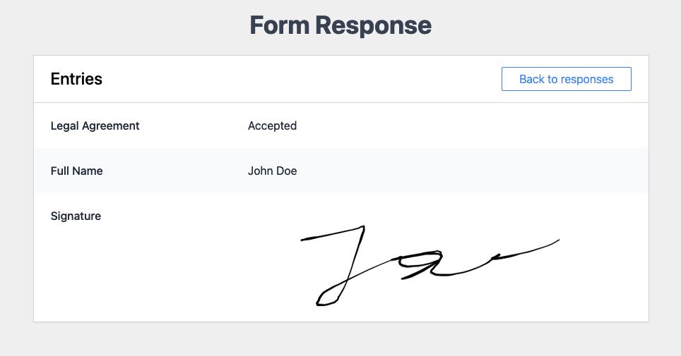 Signature in Response